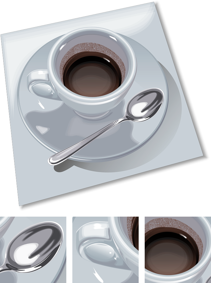Coffee Spoon Drawing a Cup of Coffee And a Spoon