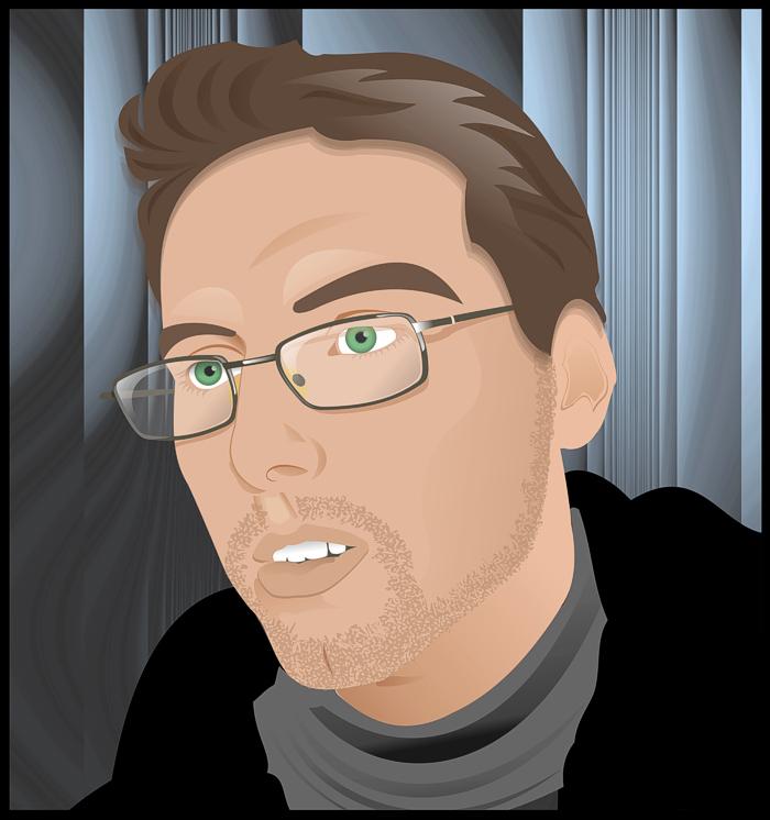 ... , иллюстрация, мужчина, очки, портрет: vectora.ru/portfolio/illustrations/man-wearing-glasses