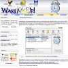 WakeMeUp (website, web-site, сайт, будильник, векторное изображение)